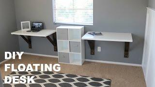 DIY Floating Desk Build (Ikea Hack)