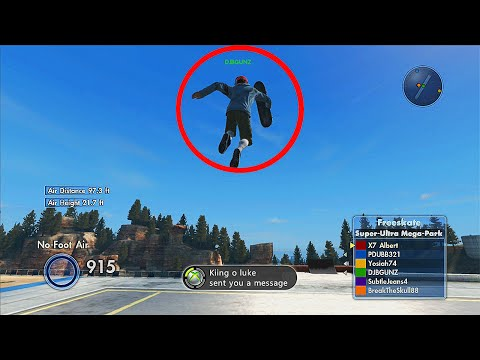 how to fly in skate 3 ps3