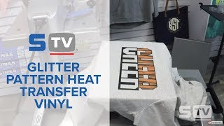 Glitter Pattern Heat Transfer Vinyl