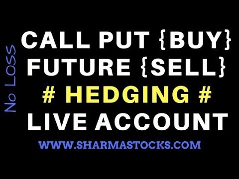 Call put + Future = Hedging live strategy ( in hindi) - sharmastocks.com