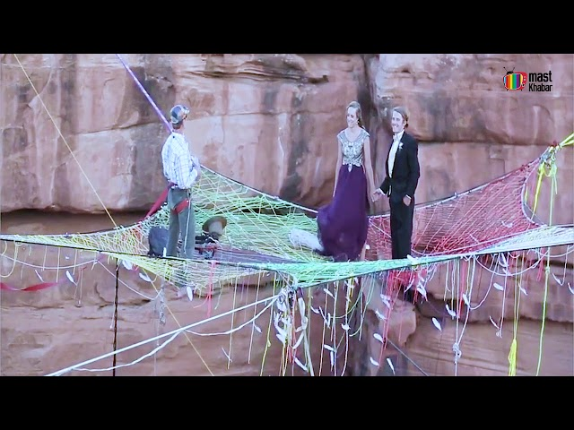 This Couple held their Wedding 600 Feet in the Air - MastKhabar