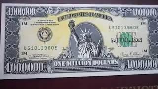 1 Million US Dollars Банкнота в 1000000 Миллион ДОЛЛАРОВ США
