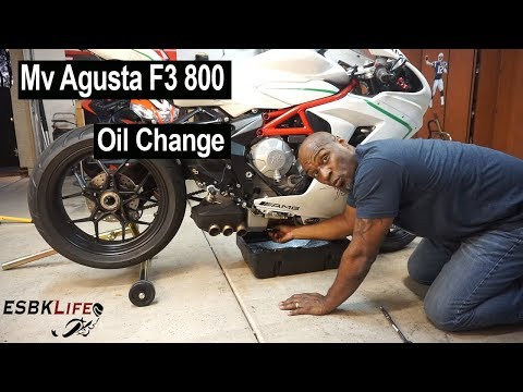 Mv Agusta F3 800 Oil & Filter Change