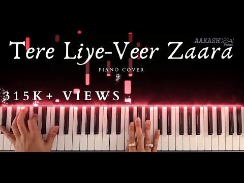Tere Liye-Veer Zaara | Piano Cover | Roop Kumar Rathod & Lata Mangeshkar | Aakash Desai