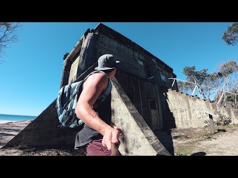 Forgotten WWII Bunkers found on Beach