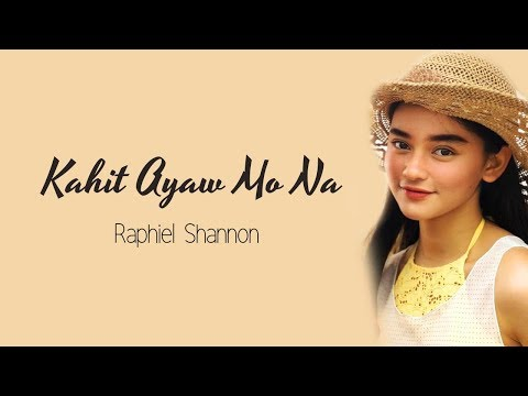 (Lyrics) Kahit Ayaw Mo Na - This Band (cover by Raphiel Shannon)