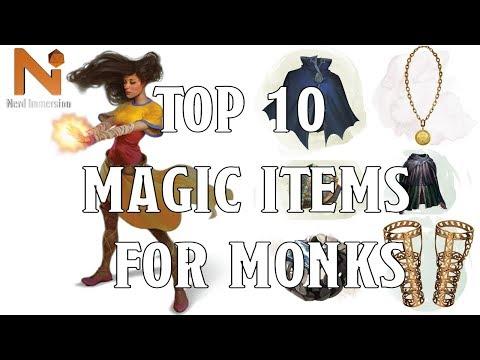 Top 10 D D 5e Monk Magic Items Nerd Immersion Youtube
