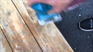 Refinishing A Wooden Bench