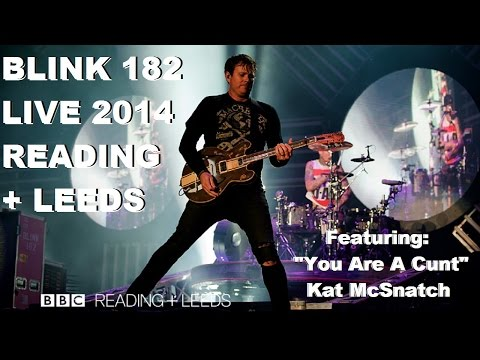 BLINK 182 live at Reading Festival 2014 | INTRO SONG: YOU ARE A CUNT by Kat McSnatch