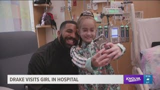 Girl waiting for heart transplant in hospital gets visit from Drake