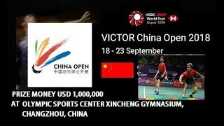 { LIVE } SCORE BADMINTON VICTOR China Open 2018 Day 3