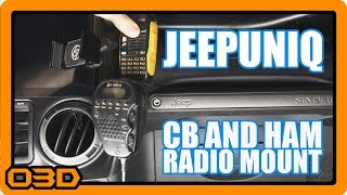 Finally the CB Mic holder I've been looking for PLUS Portable Ham Radio mount - JeepUniq