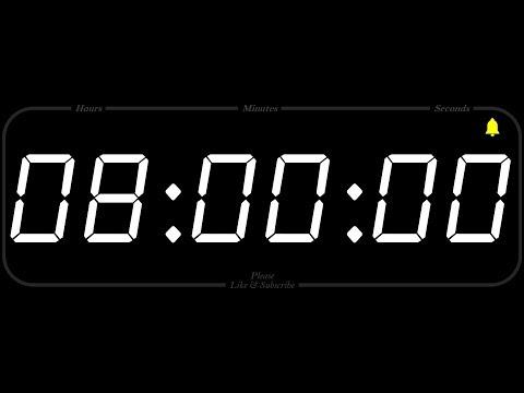 8 Hour - TIMER & ALARM - 1080p - COUNTDOWN