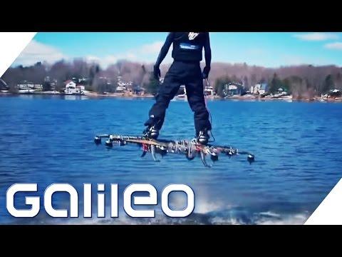 Fliegen wie Marty McFly: Das Drohnen-Hoverboard | Galileo | ProSieben