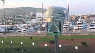 f1 2014 abu dhabi grand prix first lap south grandstand upper yas marina circuit