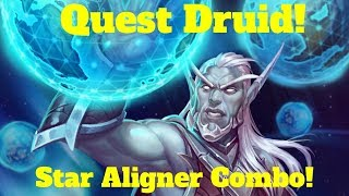Star Aligner Quest Druid! Gloop Sprayer Combo! [Hearthstone Game of the Day]