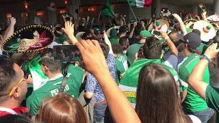 Mexican fans singing outside Luzhniki Stadium before Germany game 2