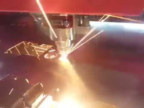 皓茂雷射切割機金屬平板切割過程 - YouTube