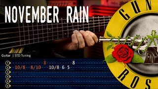 November Rain Solo - Guns 'N Roses - Acoustic Guitar Tutorial TABS | Cover Christianvib