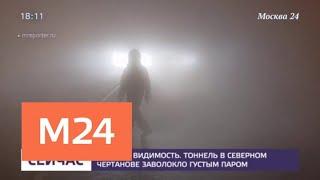 Смотреть видео Трубу с кипятком прорвало в тоннеле в Северном Чертанове - Москва 24 онлайн