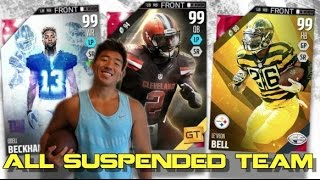 "THE ""ALL SUSPENDED"" LINEUP! JOHNNY MANZIEL, VICK & MORE! MADDEN ULTIMATE TEAM 16 TEAM BUILDERS!"