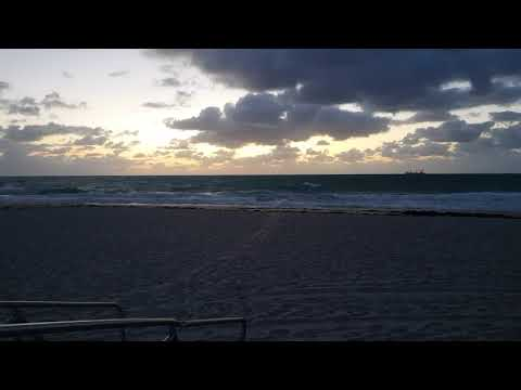Sunrise in Fort Lauderdale, Florida in HD