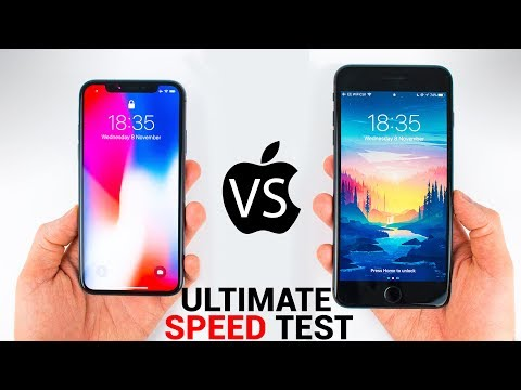 iPhone X vs iPhone 8 Plus - ULTIMATE SPEED TEST
