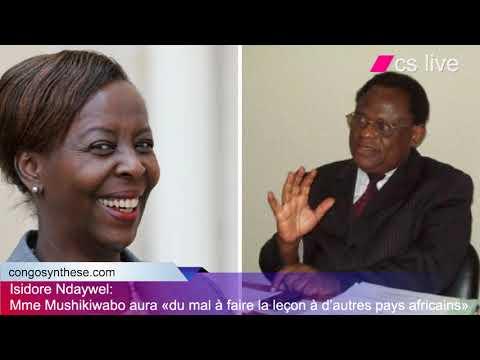 Isidore Ndaywel: Mme Mushikiwabo aura «du mal à faire la leçon à d'autres pays africains»