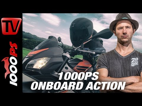 1000PS Onboard only action - Aprilia Tuono 125 - 125ccm