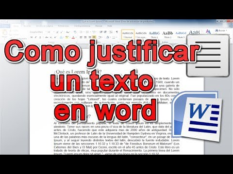 Como justificar un texto en word r pido y simple youtube for En word cual es el interlineado