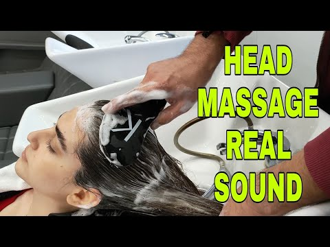 ASMR HEAD MASSAGE NO TALKING AND COMBING LONG HAIR REAL FAST SOUND