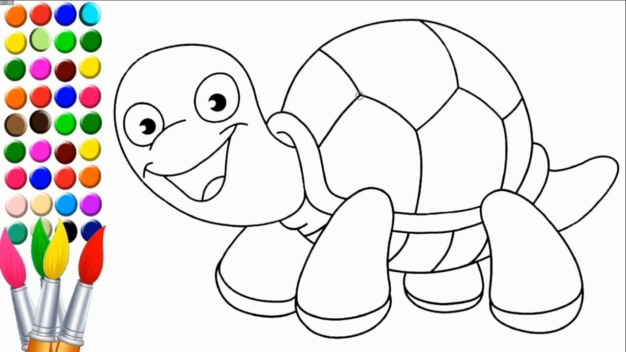 Kaplumbaga Cizimi Ve Boyama Youtube