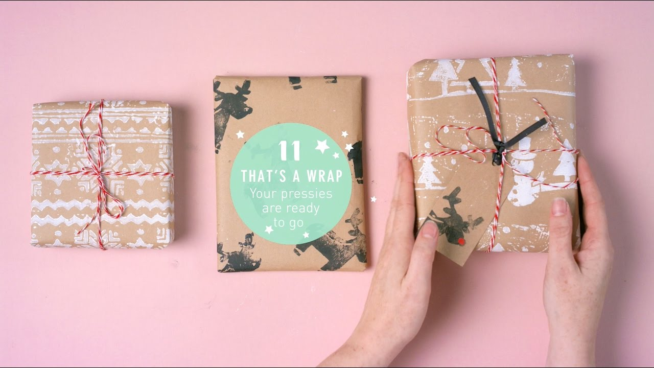 how to print your own christmas wrapping paper tags youtube