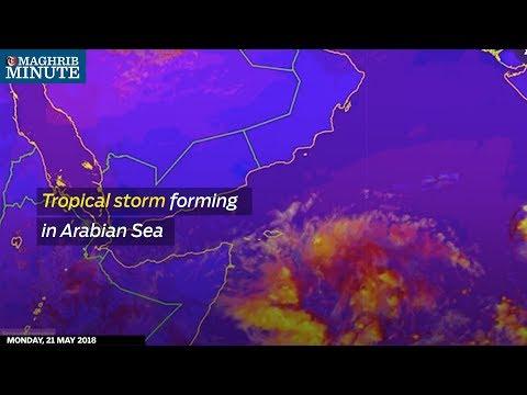 Tropical storm forming in Arabian Sea