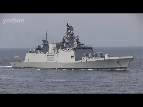 Indian Navy.Shivalik-class Frigate: INS SAHYADRI (F49) Fleet Review