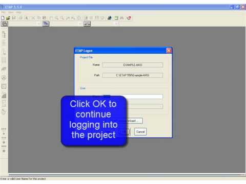Open an Existing Project using ETAP Software with ETAP 5 5