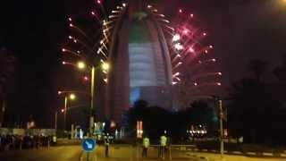 Dazzling Fireworks Show UAE National Day 2014 Burj Al Arab Hotel