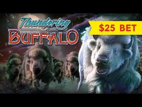 Thundering Buffalo Slot - $25 MAX BET - GREAT SESSION, YES!
