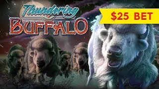 Thundering Buffalo Slot - $25 MAX BET - GREAT SESSION, YES!