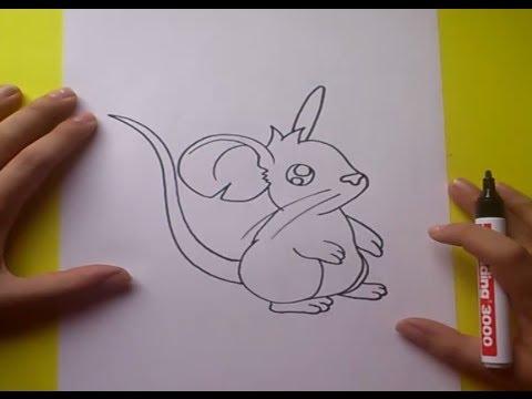 Como dibujar un raton paso a paso 2  How to draw a mouse 2  YouTube