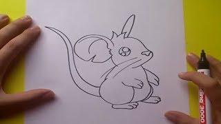 Como dibujar un raton paso a paso 2 | How to draw a mouse 2