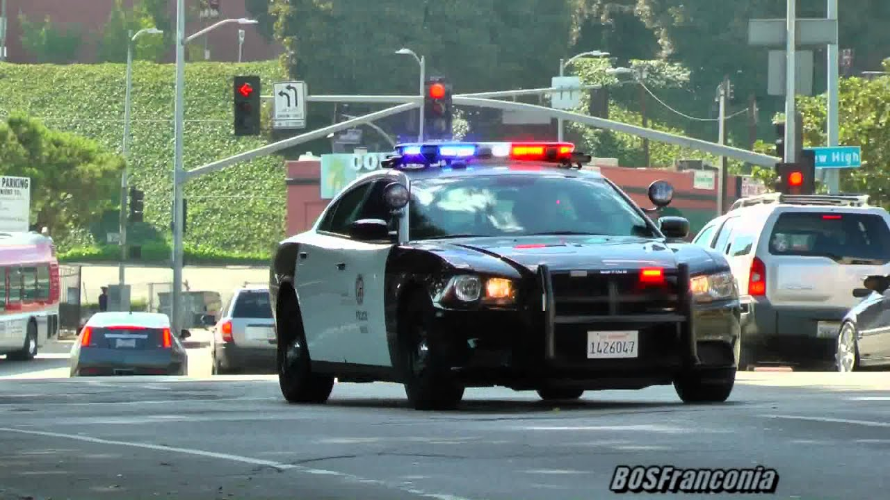 LAPD Dodge Charger responding - YouTube