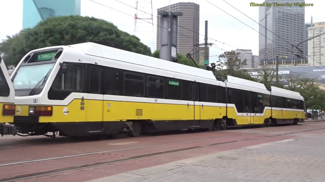 LightRail in Downtown Dallas, Texas 2018 - YouTube