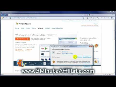 Internet Marketing Tip: Installing Windows Live Movie Maker