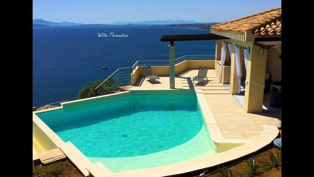 Villa Con Piscina E Spettacolare Vista Mare In Affitto In Sardegna Youtube