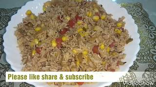 "Zero oil cooking recipes "" Veg Corn Pulao""Corn Rice"