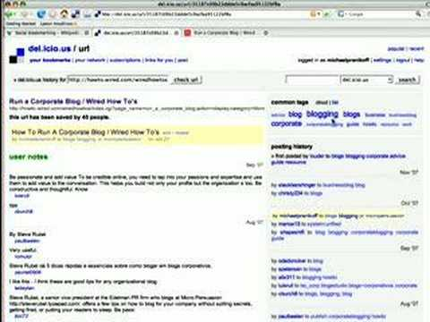 Social Bookmarking & Tagging for Public Relations