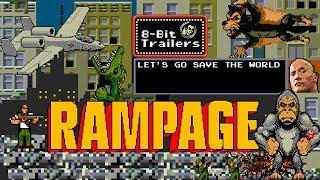 RAMPAGE (2018) 8-Bit Trailers, Dwayne Johnson monster movie