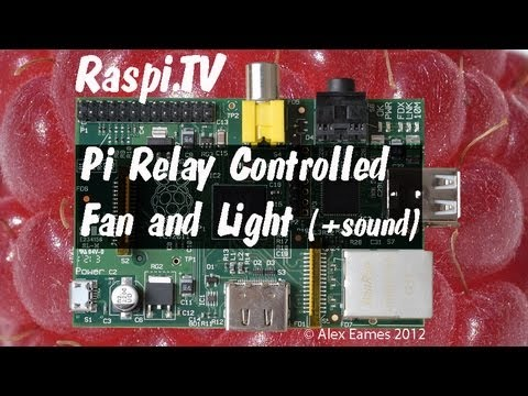 Switching A Mains Powered Fan And Lamp With Relays On The Raspberry Pi