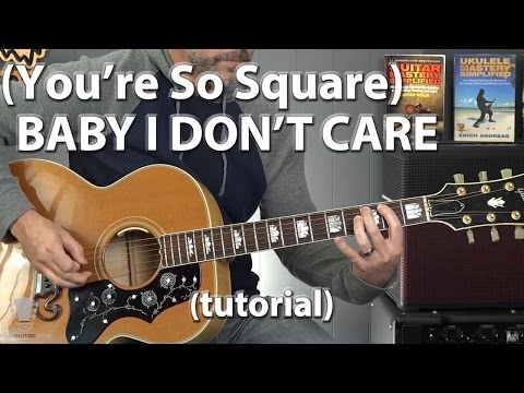 Elvis Presley - (You're So Square) Baby I Don't Care Guitar Lesson